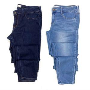 Hollister Bundle of 2 Skinny Leg Stretch Jeggings